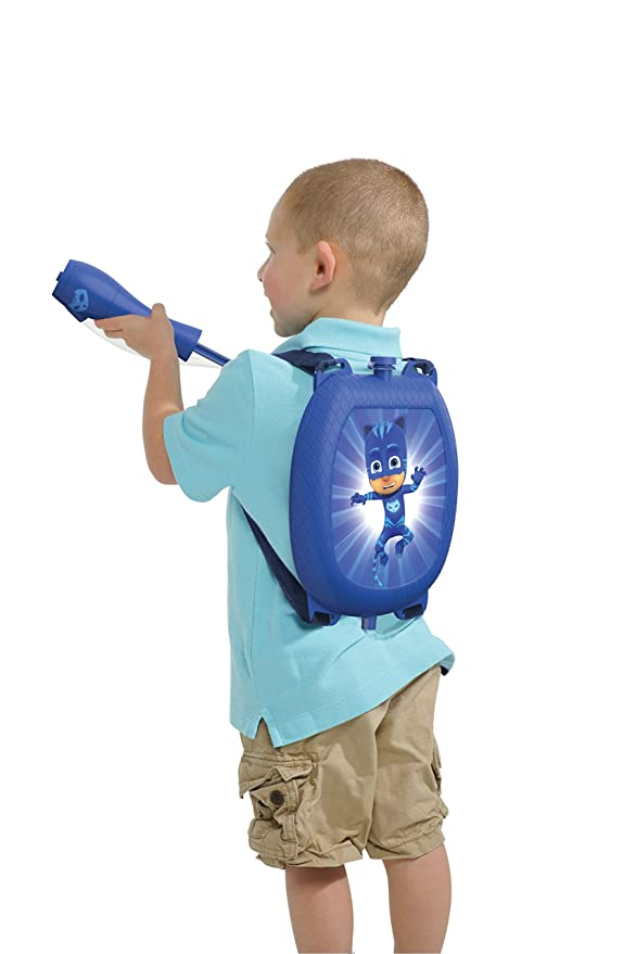 Amazon.com: Little Kids PJ Masks Catboy Water Blaster Backpack Water Squirter Toy, Blue: Toys & Games