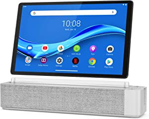 "Lenovo Smart Tab M10 Plus, 10.3"" Android Tablet, Alexa-Enabled Smart Device, Octa-Core Processor, 128GB Storage, 4GB RAM, Plantinum Grey, ZA6M0017US, Silver"
