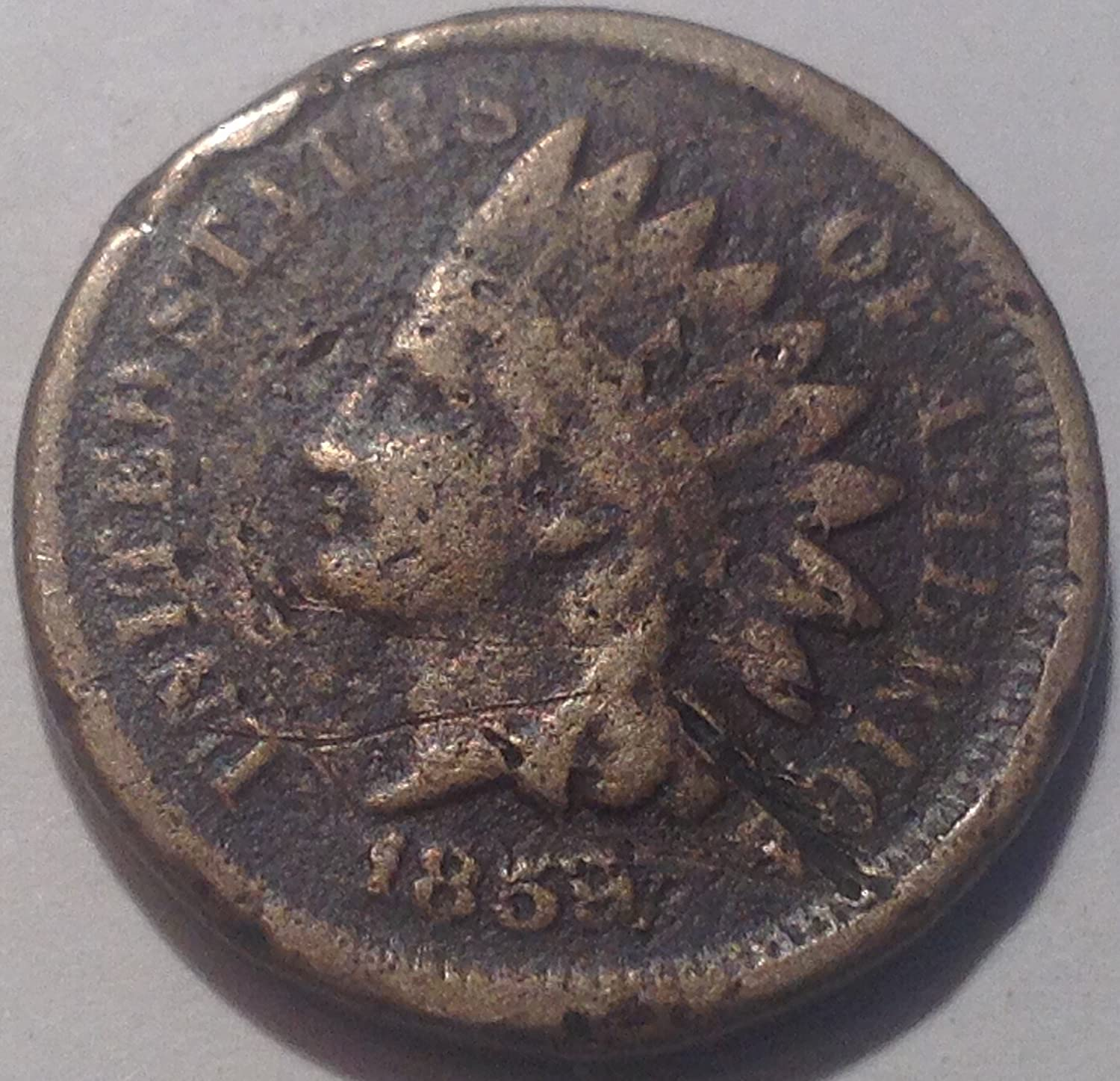 VERY GOOD 95/% COPPER COIN 1909 INDIAN HEAD CENT PENNY CIRCULATED GRADE GOOD