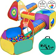Gift for Toddler Boys & Girls, Ball Pit, Play Tent and Tunnels for Kids, Best Birthday Gift for 1 2 3 4 5 Year old Pop Up Ba