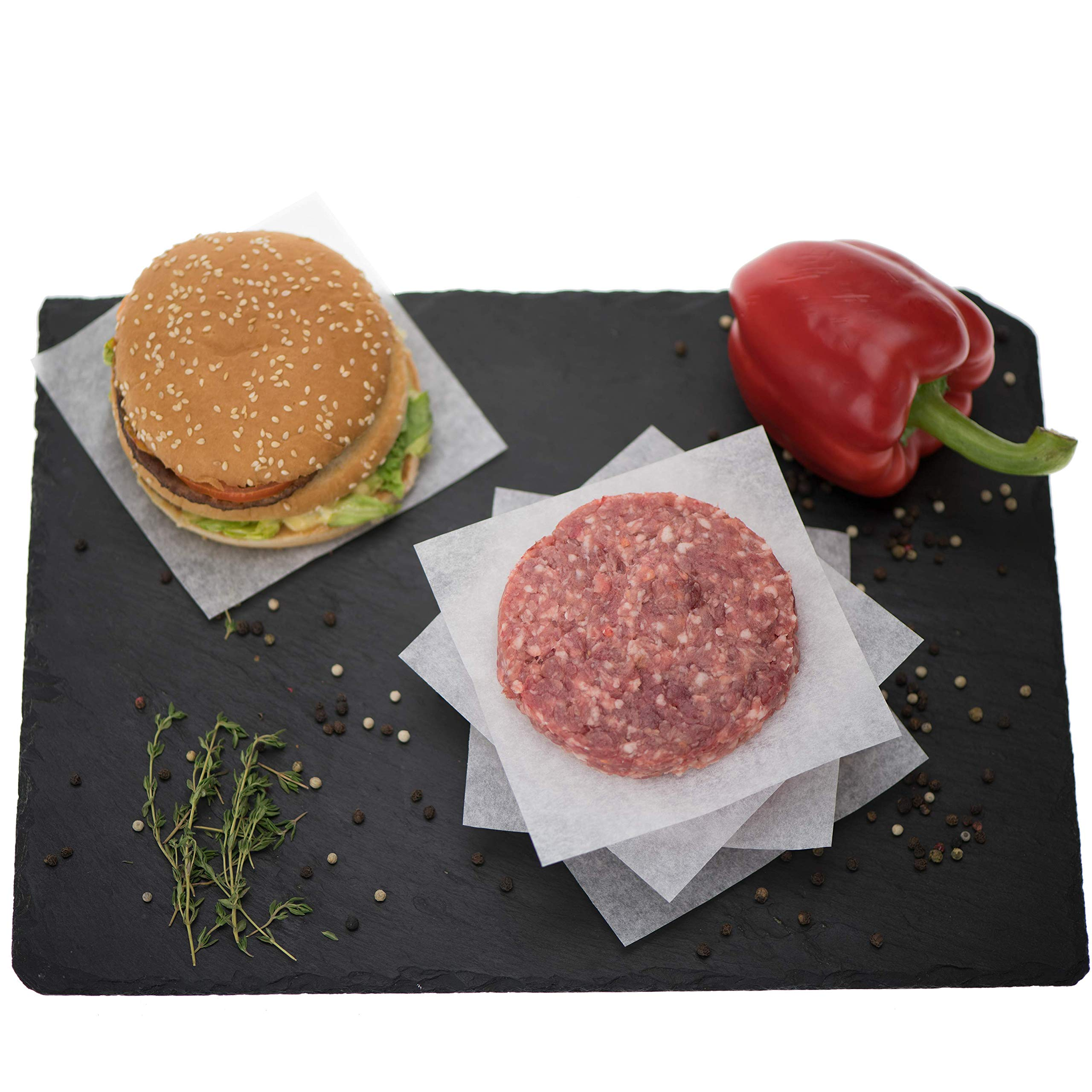 ZeZaZu Parchment Paper Squares 5.5 x 5.5 inches (1000 sheets) - MADE IN EUROPE - for Baking, Hamburger, Diamond Painting Craft | Dual-Sided Coating, Non-stick, Siliconized, Convenient Dispenser Box by ZEZAZU (Image #4)