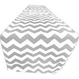 "ArtOFabric Decorative Cotton Grey and White Chevron Print Table Runner. 12"" X 90"""