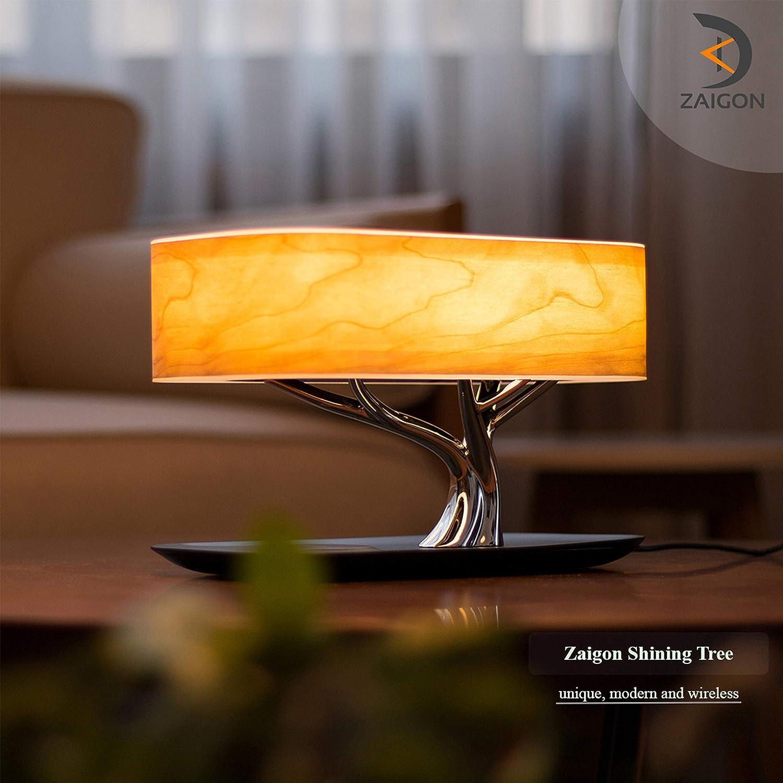 Caricabatterie senza fili altoparlante Bluetooth touch dimmerabile Zaigon-lampada da comodino