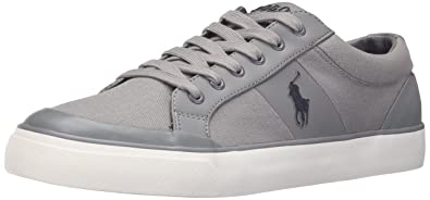 Polo Ralph Lauren Mens Ian Canvas Fashion Sneaker       Basic Grey
