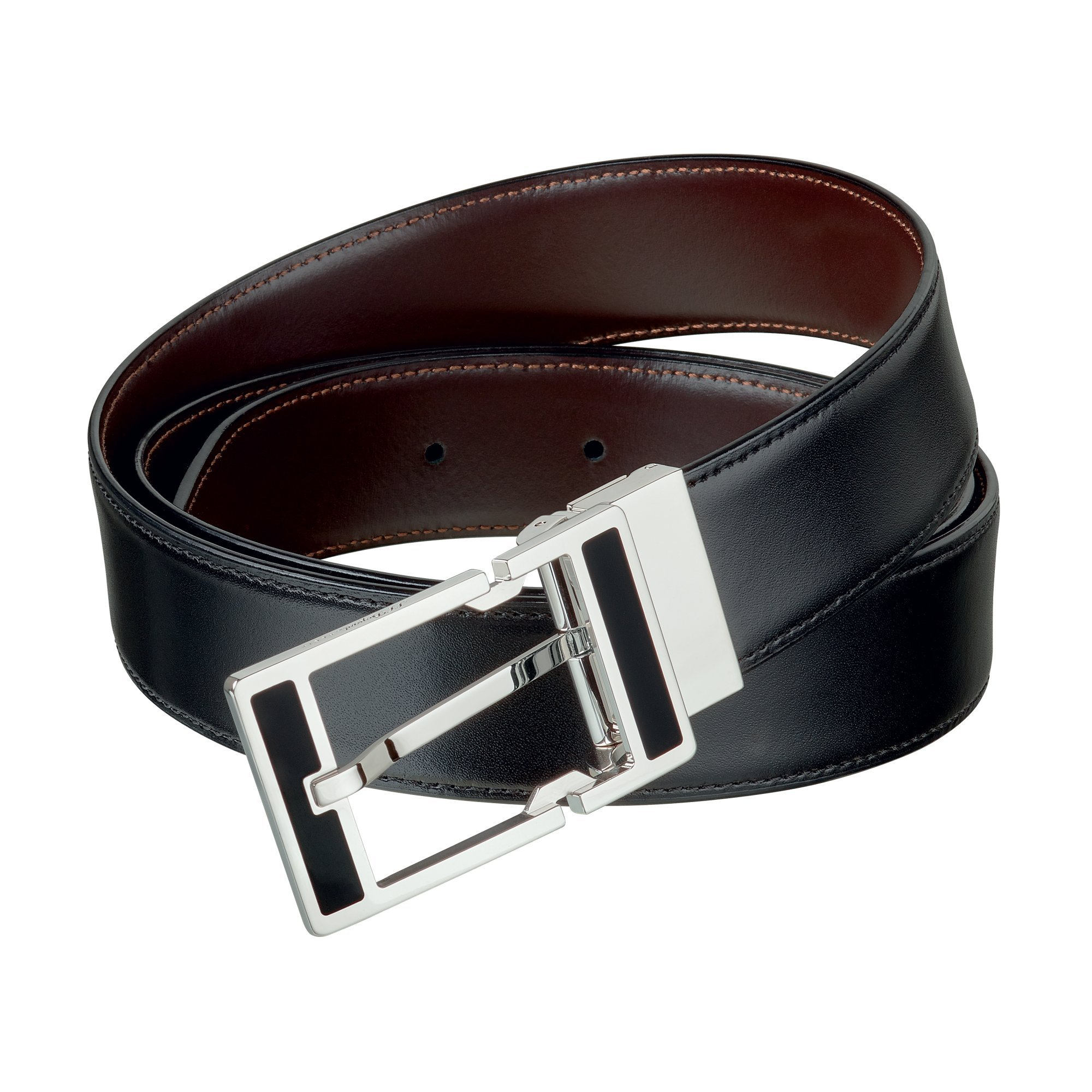 S.T. Dupont 9500120 Palladium Auto-Reversible Buckle Business Belt