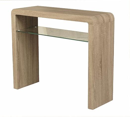 Malmo Oak Console Table With Shelf   Oak Hall Table   Finish : Dark Oak   Part 35