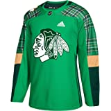 adidas Chicago Blackhawks NHL 2018 Mens St. Patrick s Day Authentic Practice  Jersey 60bfdc8d5