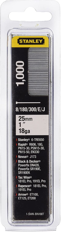 Stanley 1-SWKBN100T Clavo/Brad 8/300 / E/Tipo J-25mm-1000 u, multicolor