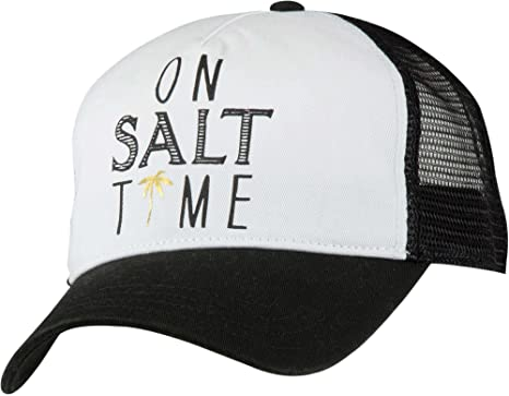 Salt Life Women s Salt Time Living Ladies Trucker Mesh Hat - Black - One  Size 7b548914453