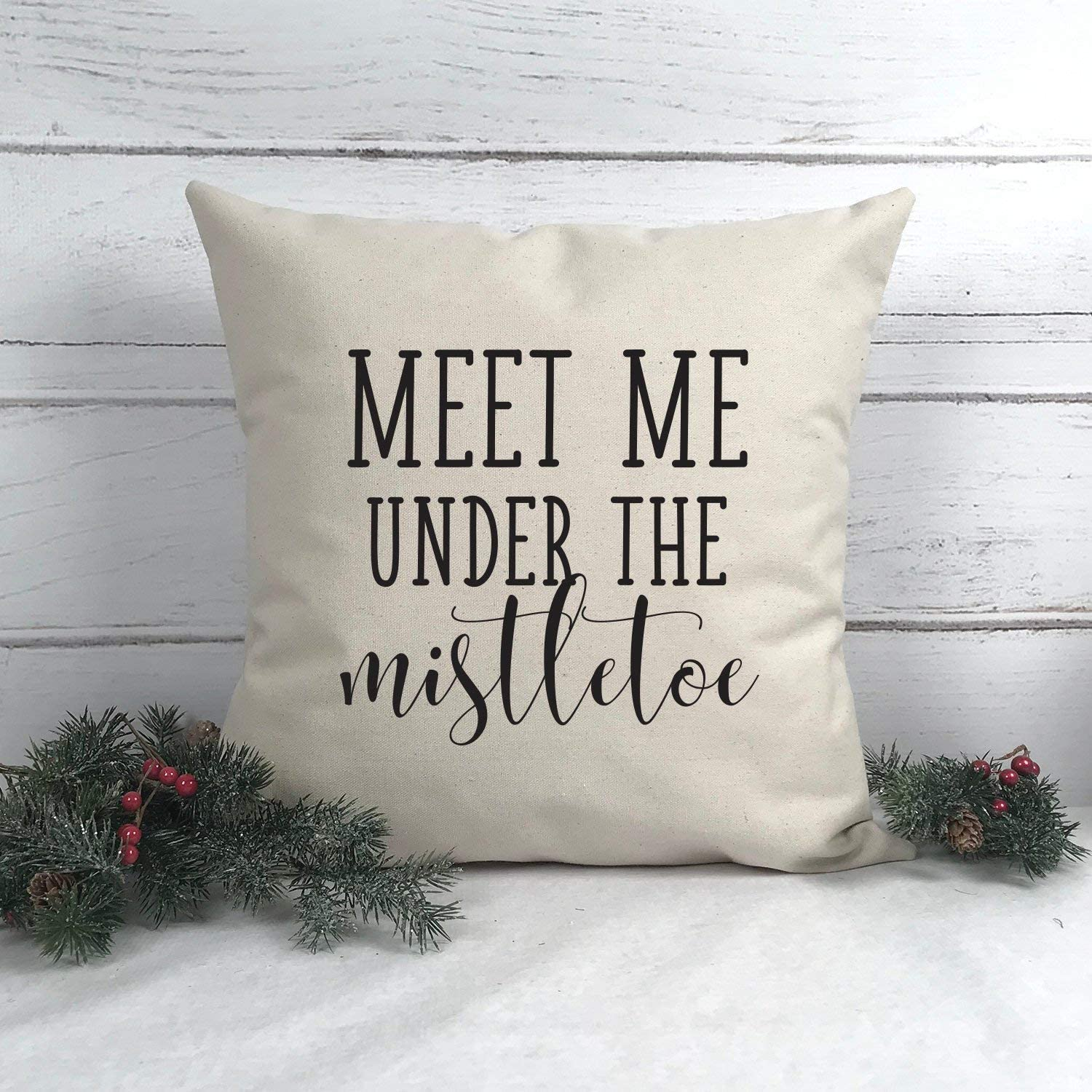 Christmas pillow cover mistletoe pillow