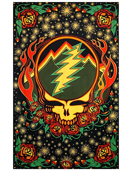 Amazon.com: Sunshine Joy Grateful Dead 3D Steal Your Face Scarlet ...