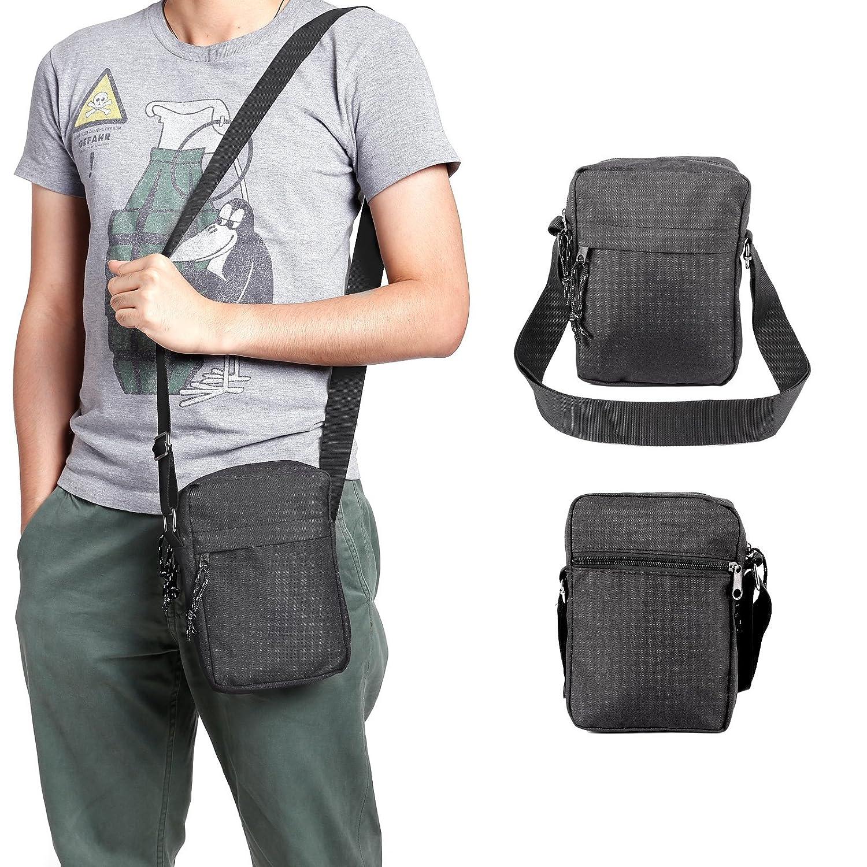 Men s Canvas Small Shoulder Messenger Rucksack Backpack School Travel Bag  Satchel Organiser Utility Cross Body Daysack  Amazon.co.uk  Shoes   Bags c7597e6f99e16