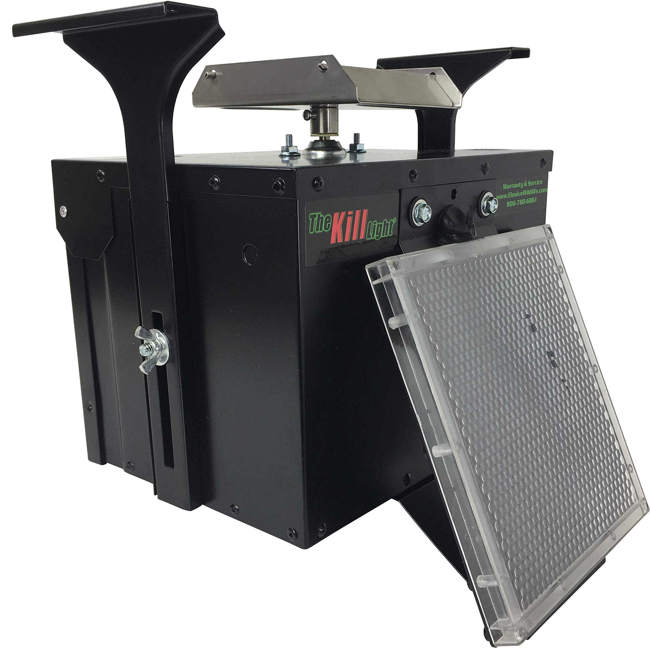 Elusive Wildlife Premium 12 Volt Feeder Control Box with The Timer and Attached Solar Panel (Black) by Elusive Wildlife