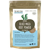 The Maca Team Gelatinized Black Maca Powder, Fair Trade, Vegan, GMO-Free, Premium Maca, 8 Ounces, 25 Servings