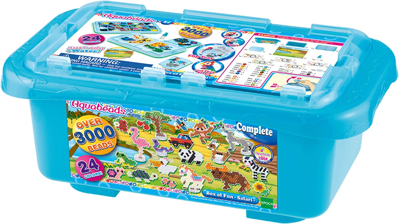 Aquabeads- Box of Fun Caja de diversión - Safari, Multicolor, talla única (Epoch AB32808) , color/modelo surtido: Amazon.es: Juguetes y juegos