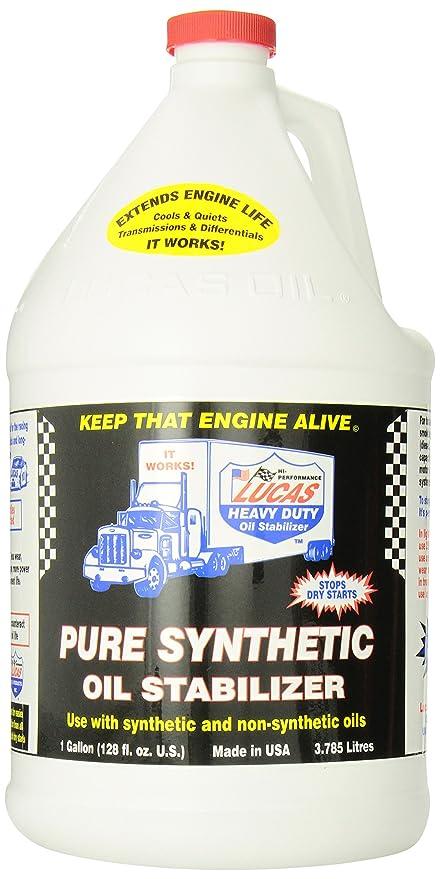 Lucas Oil LUC10131 1 Gallon (128 Ounces) Synthetic Oil Stabilizer