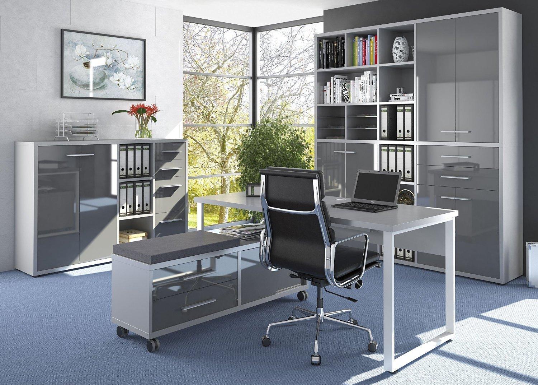 Komplettes Arbeitszimmer - Büromöbel Komplett Set Modell 2017 MAJA ...