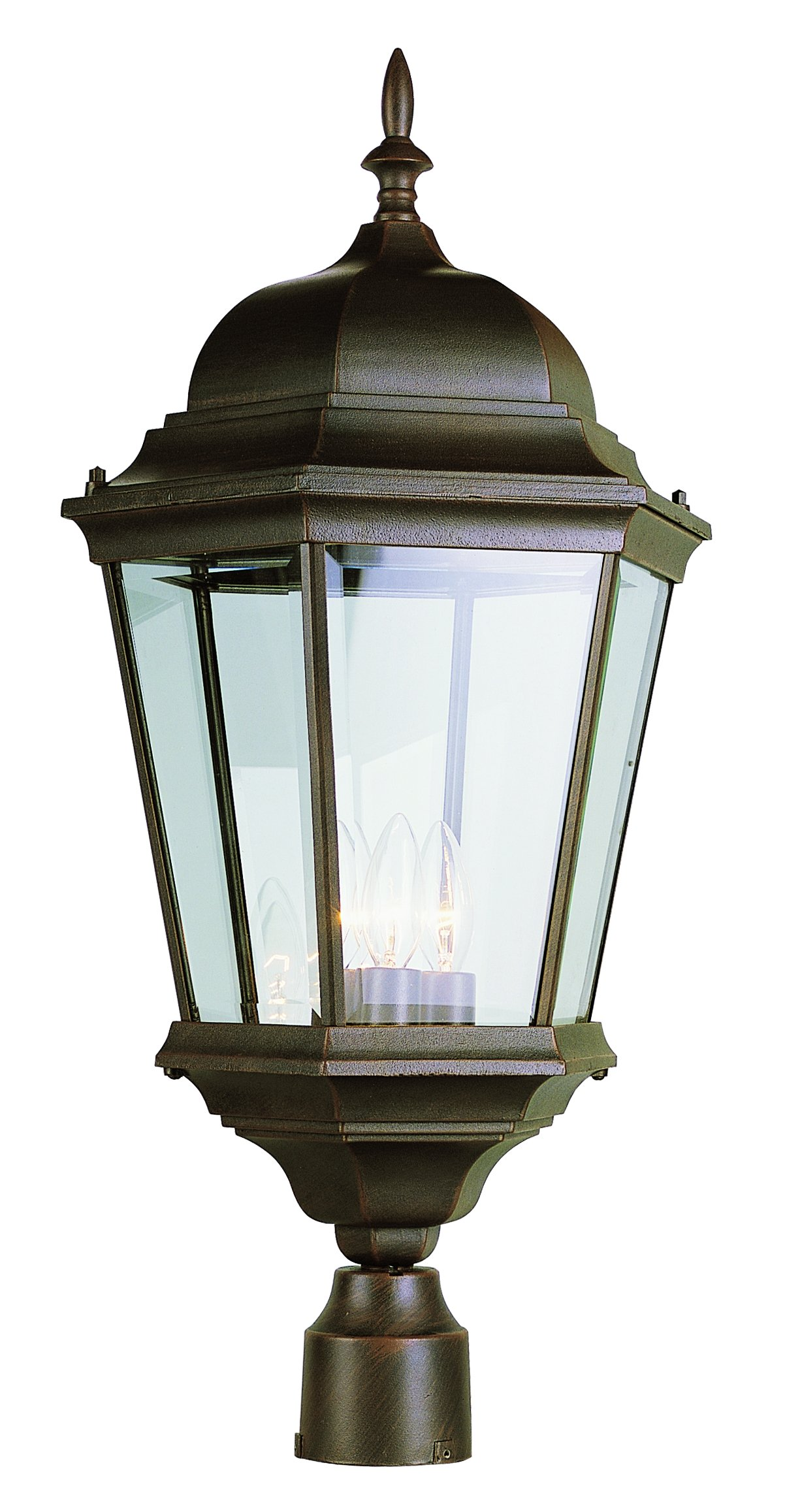 Trans Globe Lighting 51001 RT Outdoor Classical 26.75'' Postmount Lantern, Rust