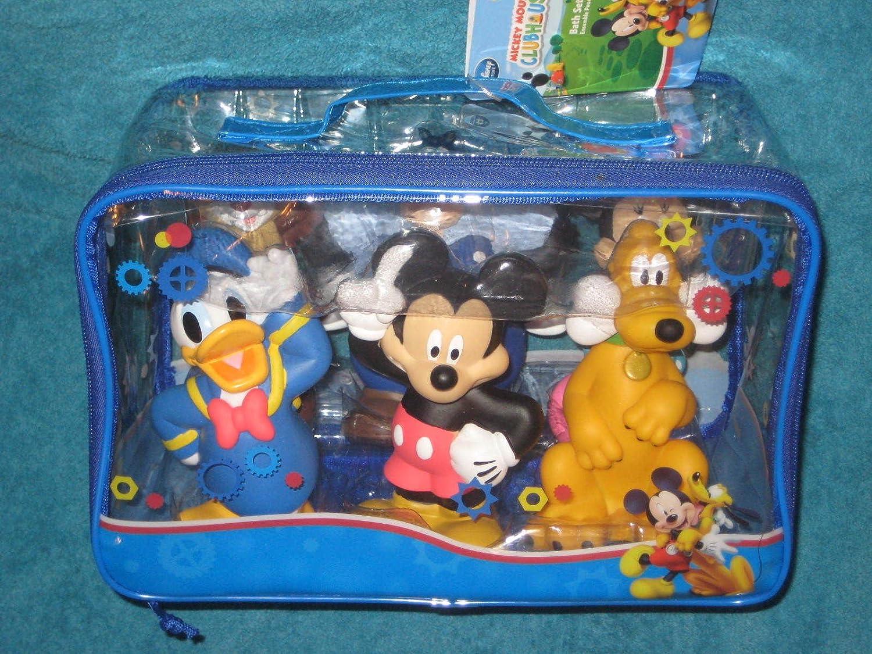 Amazon.com: Disney Mickey Mouse Clubhouse 6 Piece Bath Toy Set ...