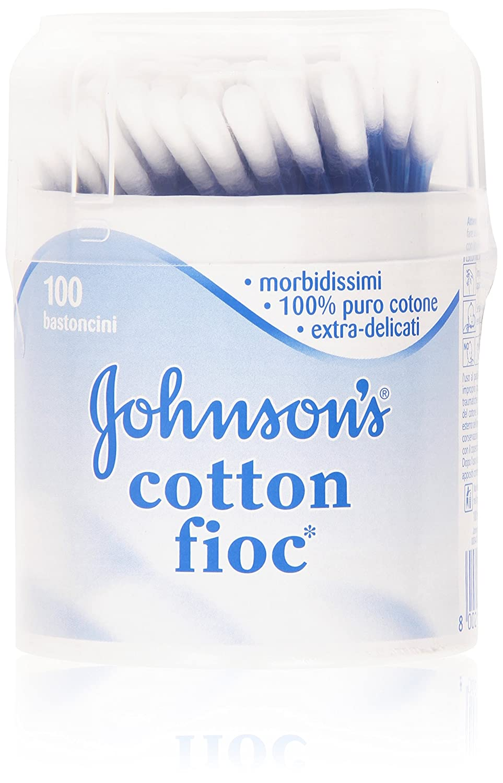 Johnson & Johnson 's - Bastoncillos algodón, 100 unidades DUO_8002110012197