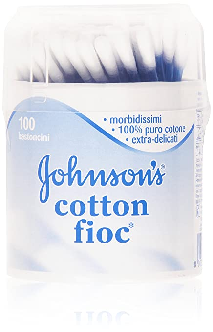 10 opinioni per Johnson's- Cotton fioc, Bastoncini morbidissimi, 100% puro cotone,