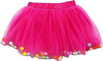 9aeb7c6274b60 So Sydney Toddler Kids Size POM POM Tutu Skirt Birthday Costume Dress Up