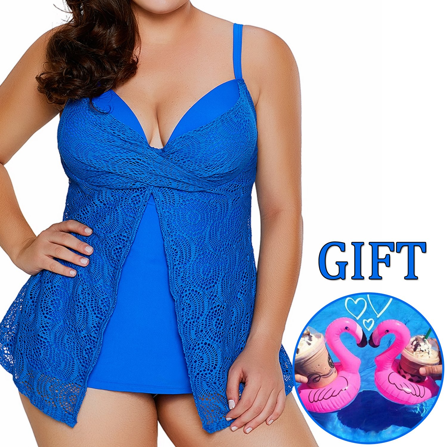 b8f183f5e1344 Super Fabric -- Tankini Swimsuit made of 82%Nylon+18%Spandex.elastic women's  plus size tankini swimsuits,high quality fabric which breathable and quick  ...