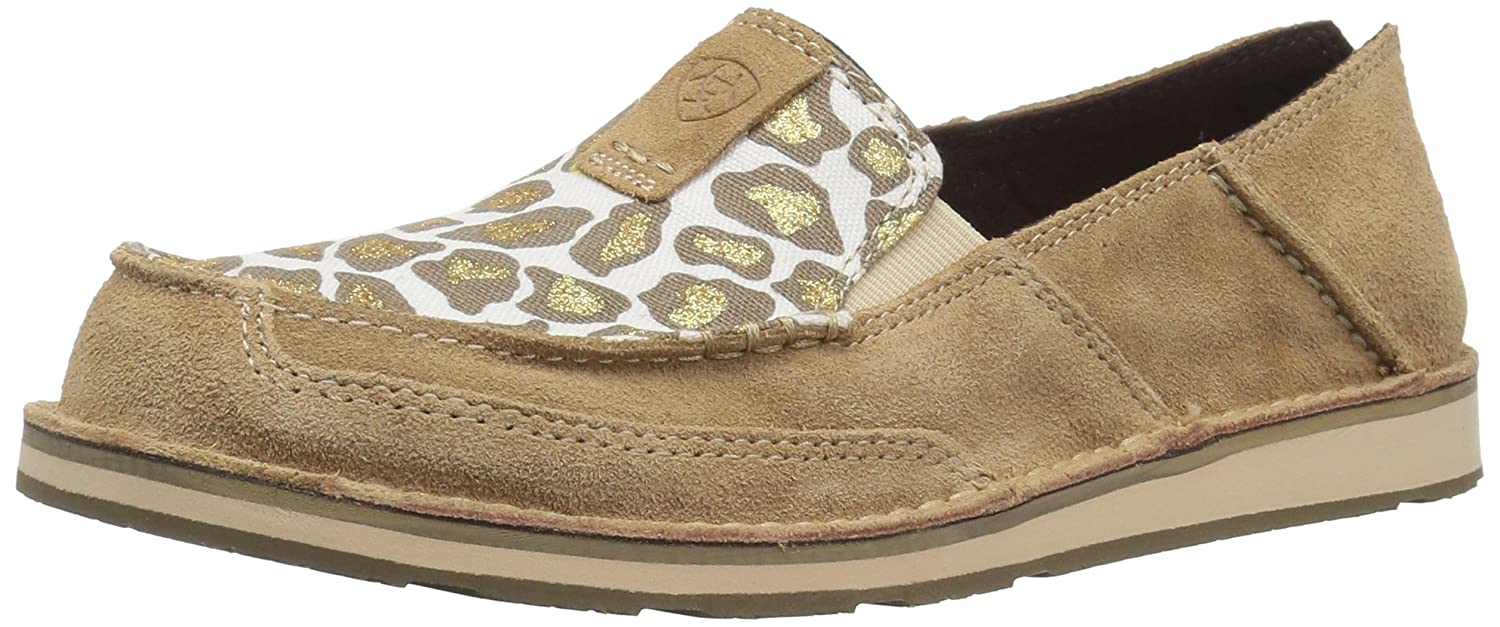 Ariat Women's US|Dirty Cruiser Slip-on Shoe B071P9J142 8.5 B(M) US|Dirty Women's Taupe Suede/Sparklin' Leopard 26509a