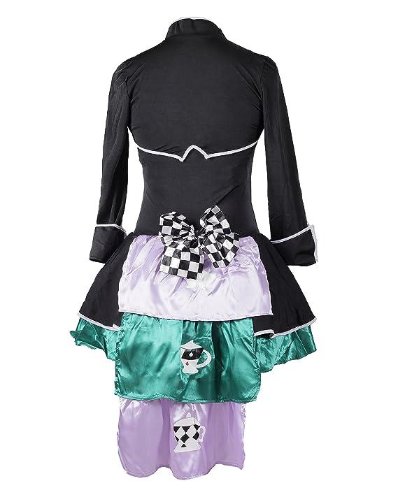 d080c41c3df Costume da Cappellaio Matto, firmato Emma's Wardrobe - Include Vestito  senza maniche, Giacca, Cappello e Papillon - Costume del Paese delle ...
