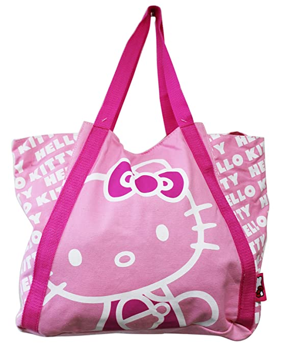 b366df117 Amazon.com: Hello Kitty Light Pink Colored Medium Size Canvas Tote Bag:  Shoes