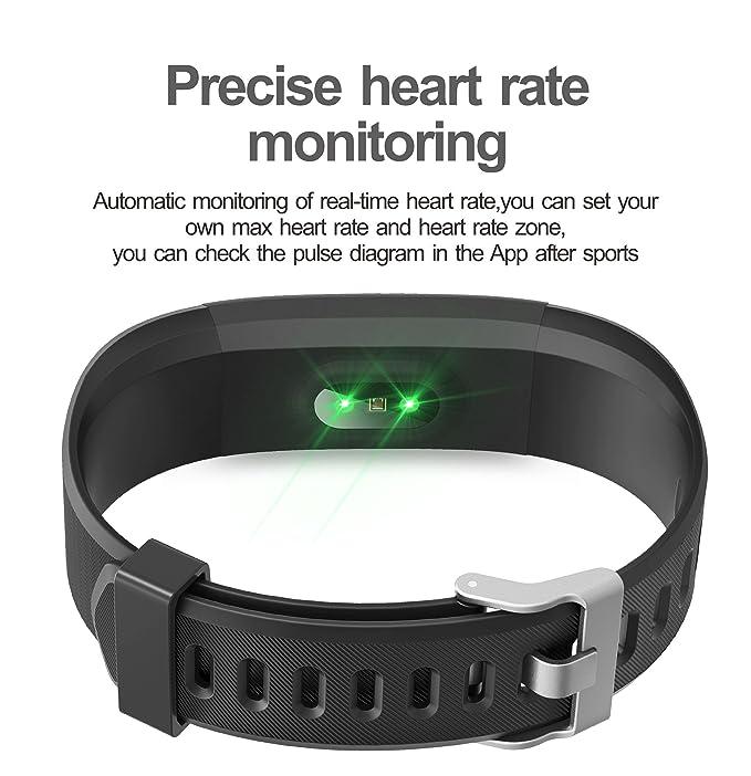 bd281e252de7 Vigorun Pulsera Inteligente, Fitness Tracker Rastreador de Actividad  Podómetro Monitor de frecuencia cardiacaen, Monitorizar 14 Patrones de ...
