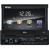 BOSS Audio BV9967B Single Din, Touchscreen, Bluetooth, DVD/CD/MP3/USB/SD AM/FM Car Stereo, 7 Inch Digital LCD Monitor, Detachable Front Panel, Wireless Remote