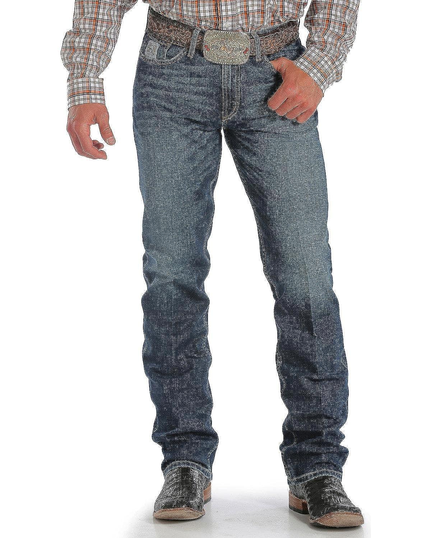 Cinch Apparel Mens Silver Label Slim Straight Leg Jeans 29x32 Performance Dark Stonewash