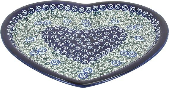 Blue Rose Polish Pottery Seaside Swirl Large Rectangular Baker With Handles