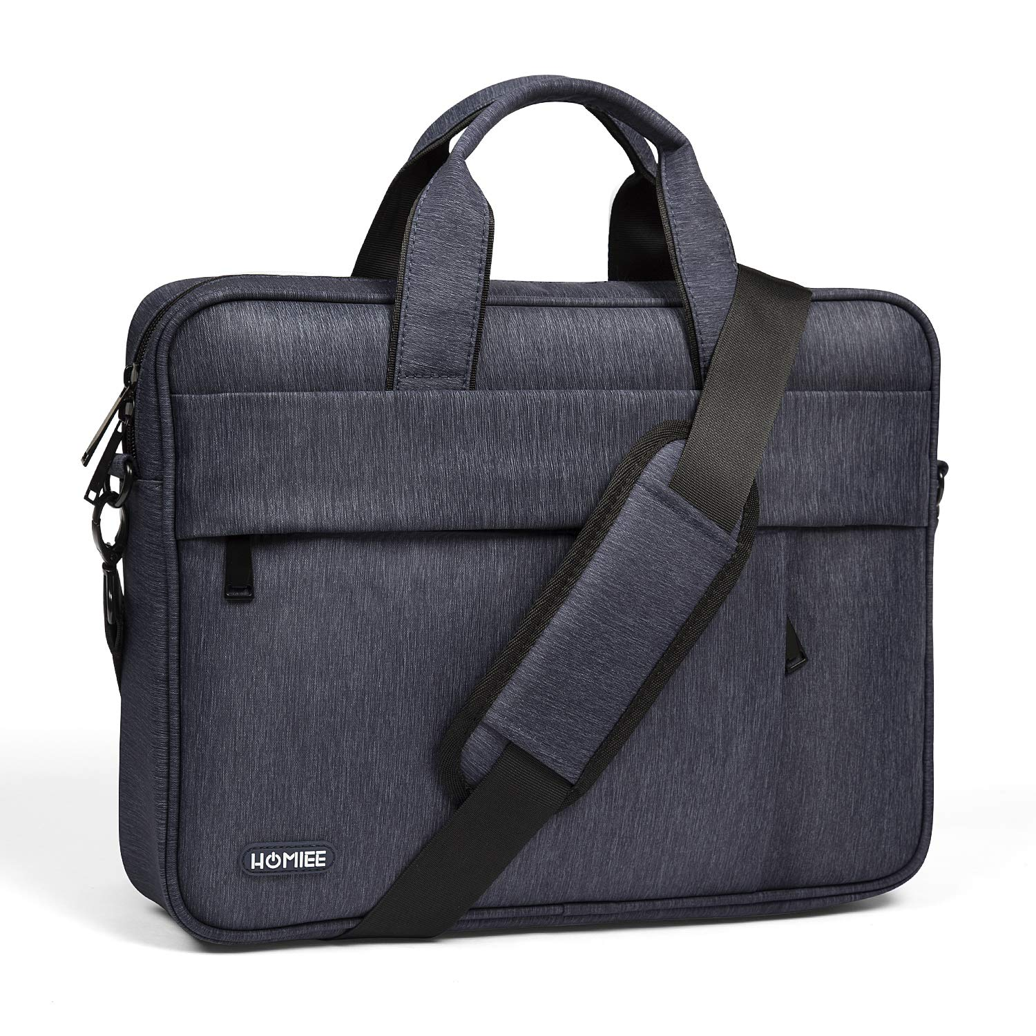 HOMIEE 13-14 Inch Laptop Shoulder Bag, Protective Laptop Bag Waterproof Business Briefcases for Men & Women, Fits for MacBook Pro, MacBook Air, iPad Pro, Dell XPS, Lenovo, HP, Chromebook and More SB1301B
