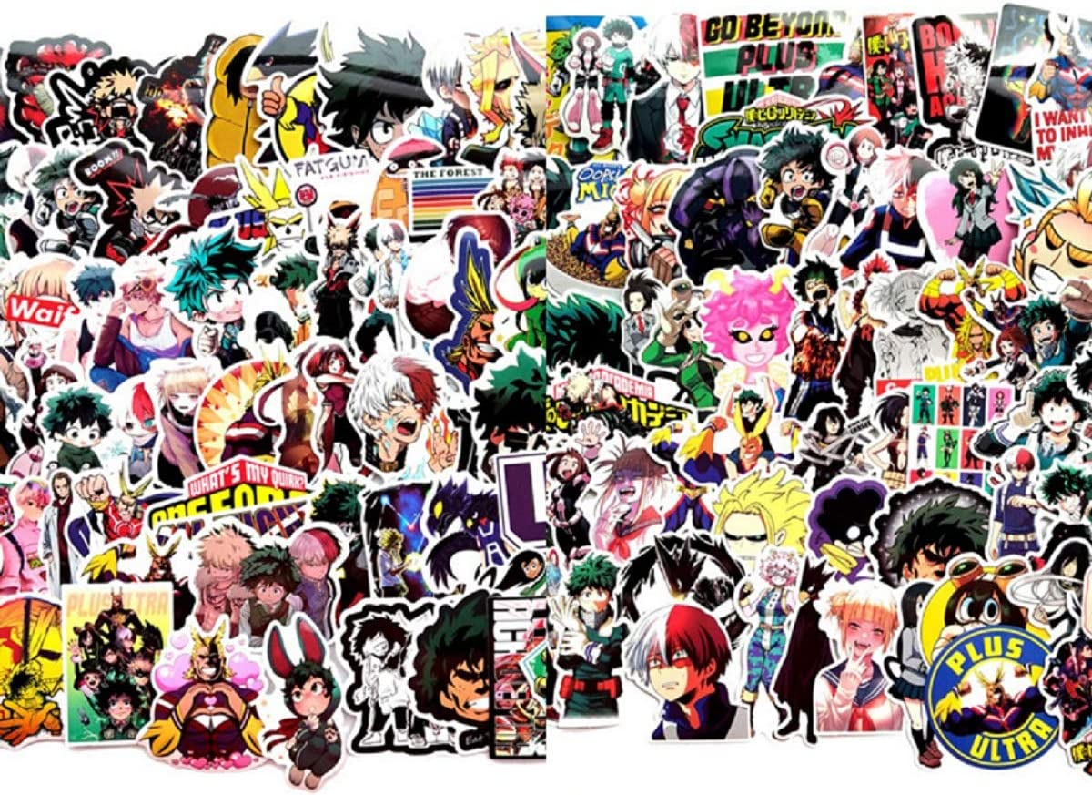 STICKALYLY - 140Pcs My Hero Academia Stickers for Laptop Skateboard Suitcase Water Bottle Boku no Hero Academia Anime Character DecalGift for Kids Teens