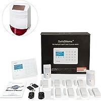Safe2Home® Funk Alarmanlage Großes Set SP210 mit Sabotageschutz u Lichtsteuerung - deutsch - GSM WiFi Alarmsystem SMS Alarmierung - Alarmanlagen fürs Haus Büro inkl. Zubehör und Sensoren