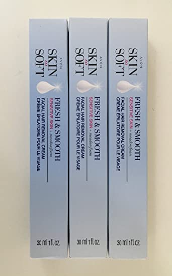 Avon Skin So Soft Fresh & Smooth Sensitive Skin Facial Hair Removal Cream - Set of