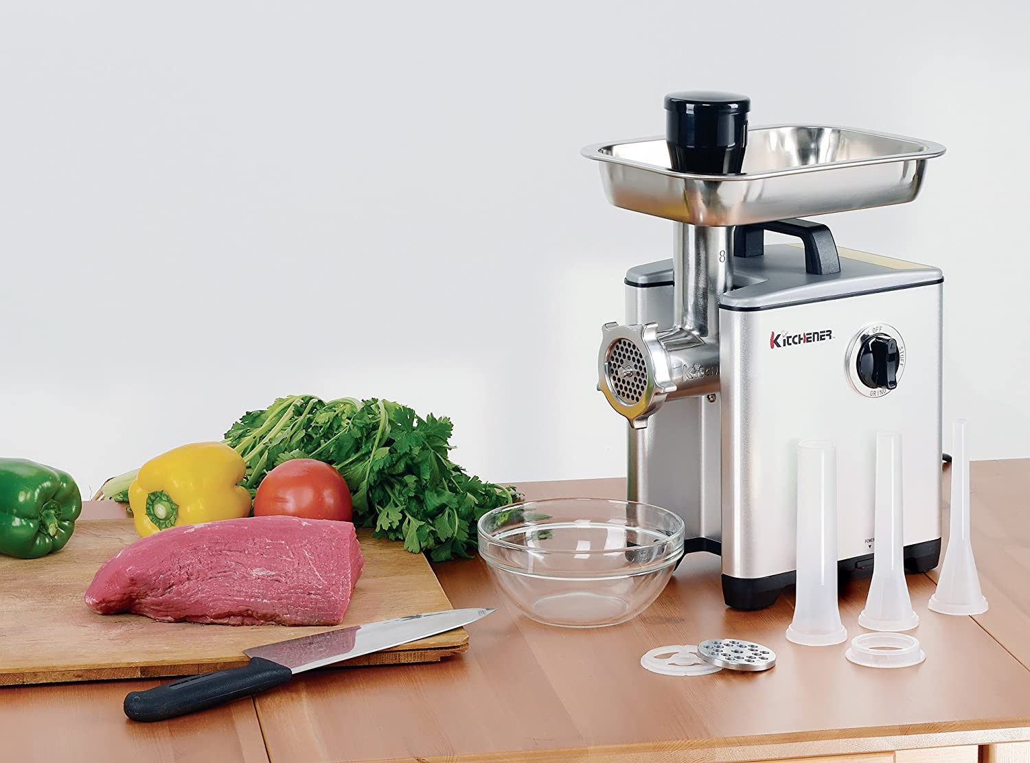 Kitchener Heavy Duty Electric Meat Grinder 2/3 HP (500W), 3-speed ...