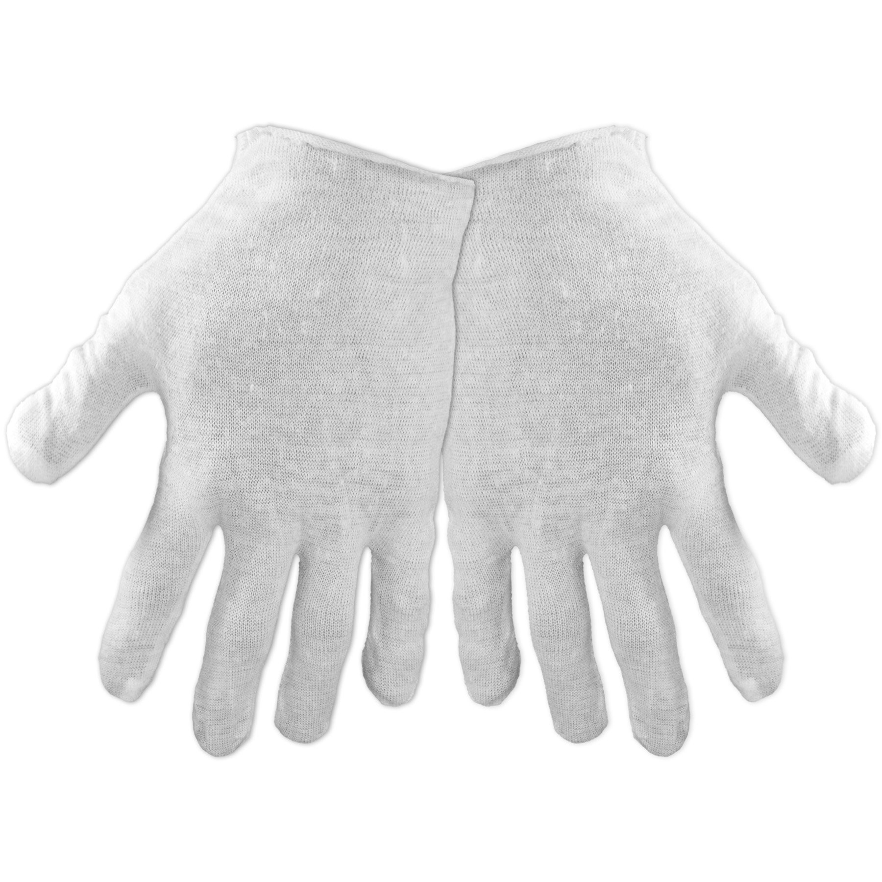 Global Glove L100-W 100 Percent Cotton Bleached Light Weight Lisle Inspectors Glove, Work, Ladies, White (Case of 1200) by Global Glove