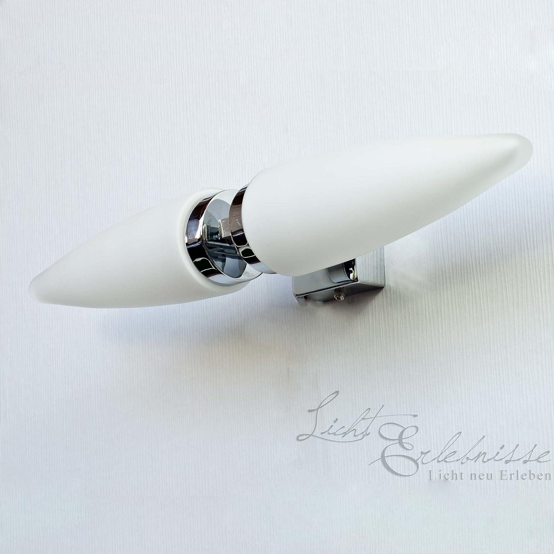 Rabalux 5826 Lyra dekorative Badleuchte chrom, Glas opal-weiß