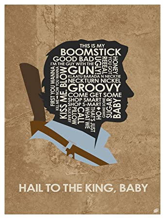 Evil Dead Ash Hail To The King Baby Word Art Print