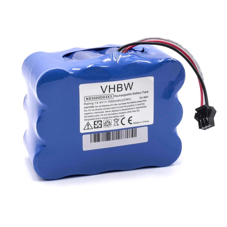 vhbw Batería NiMH 1500mAh (14.4V) para robot aspirador, Home Cleaner ...