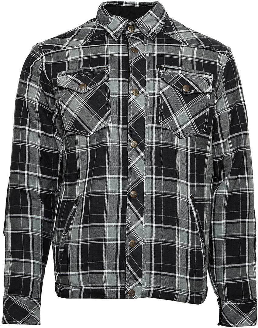 Bores Lumberjack - Camisa de manga larga (impermeable, a cuadros, talla 4XL), color gris, negro y blanco: Amazon.es: Coche y moto