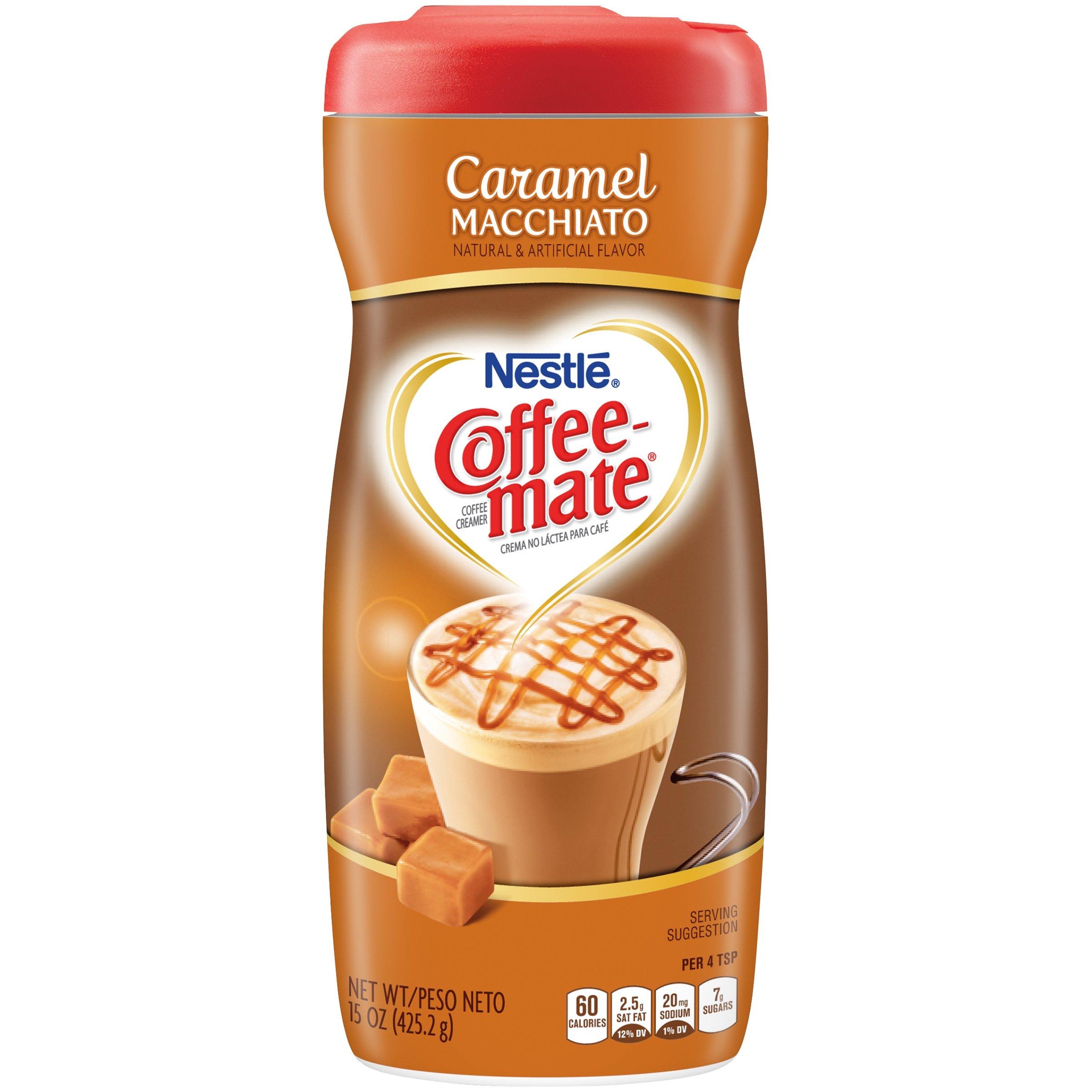 PACK OF 12 - Nestle Coffeemate Caramel Macchiato Coffee Creamer 15 oz. Canister