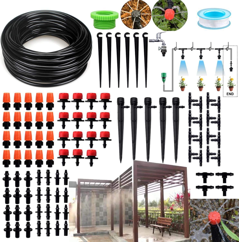Ymiko 100 Piezas de riego por Goteo Tubo de Agua Extremo Enchufe Accesorios de riego para jard/ín Accesorios de riego 16mm