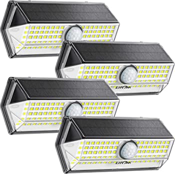 4-Pack LITOM 100-LED Solar Outdoor Lights