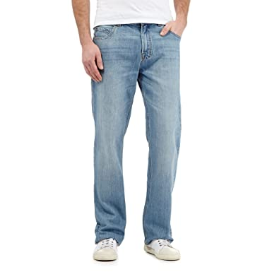 Maine New England Men Big And Tall Grey Straight Jeans