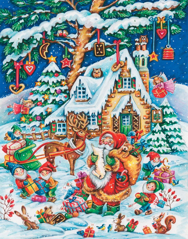 Calendrier de l'Avent Les Assistants du Père Noël Vermont Christmas Company