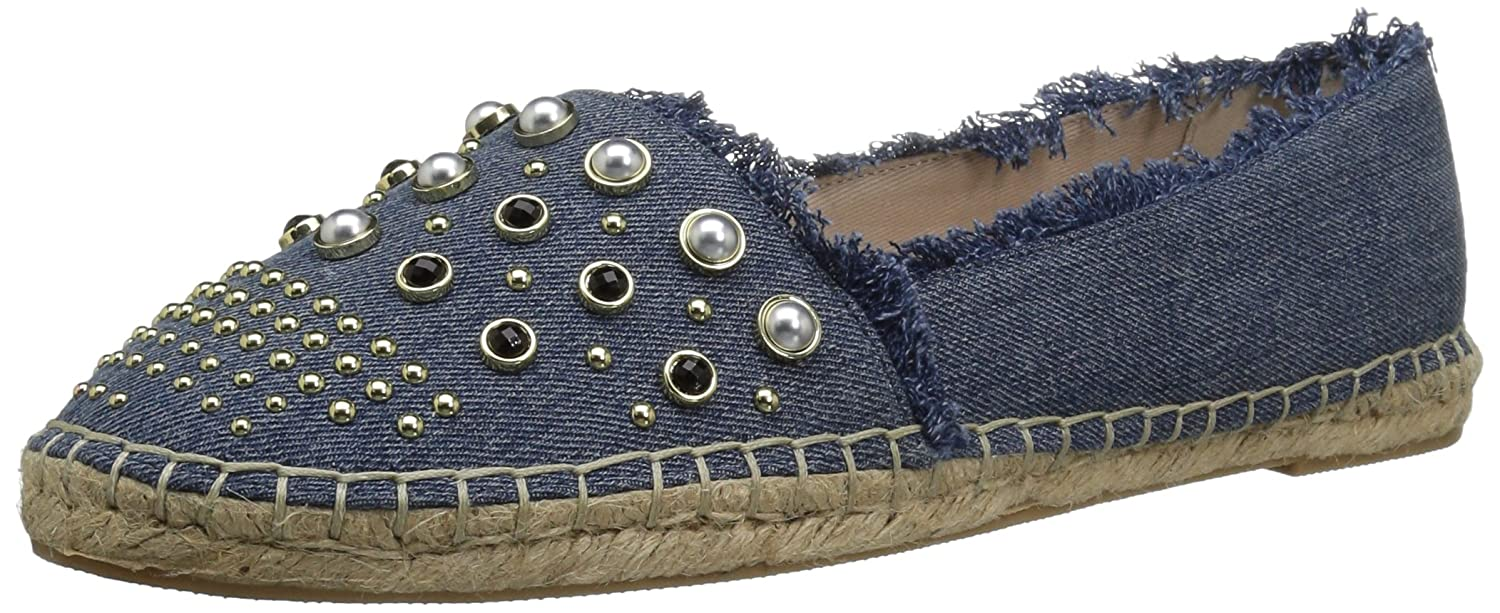 Kenneth Cole New York Women's Brigid Espadrille with Stud Ballet Flat B078DFJ8CZ 6 B(M) US|Blue